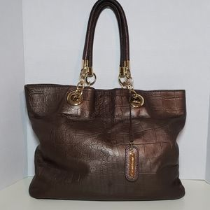 Cynthia Rowley Crocked Design Leather Tote